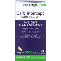 Carb Intercept with Phase 2 Carb Controller, 1000 mg, 60 Veggie Caps - фото