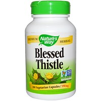 Blessed Thistle, 390 mg, 100 Vegetarian Capsules - фото