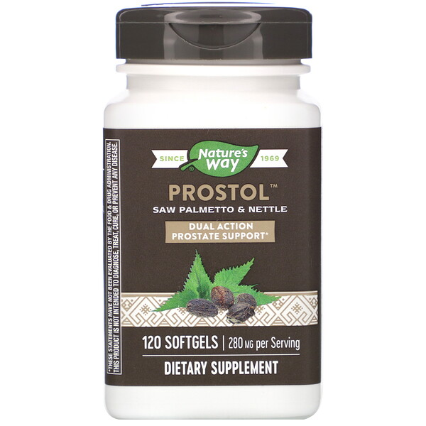 Prostol, Saw Palmetto & Nettle, 280 mg, 120 Softgels