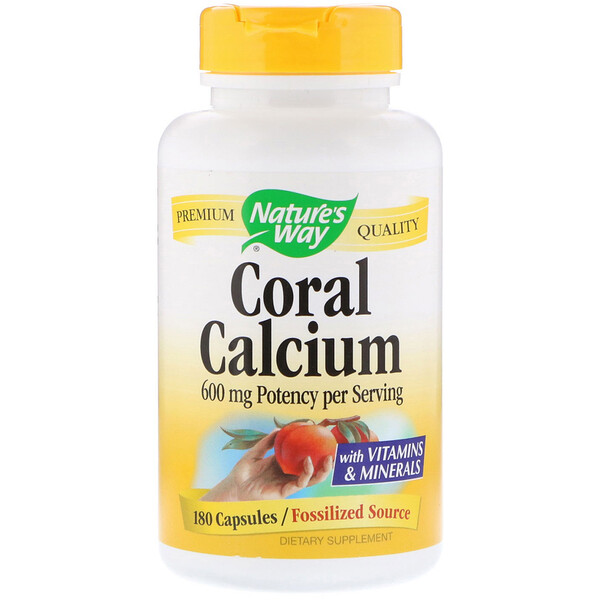 Nature's Way, Coral Calcium, 600 mg, 180 Capsules