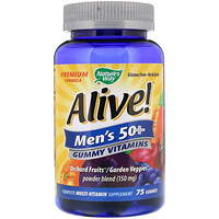 Alive! Men's 50+ Gummy Vitamins, 75 Gummies - фото