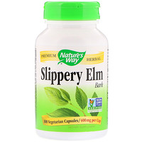 Slippery Elm Bark, 400 mg, 100 Vegetarian Capsules - фото