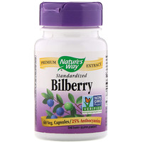 Bilberry Standardized, 60 Veg Capsules - фото