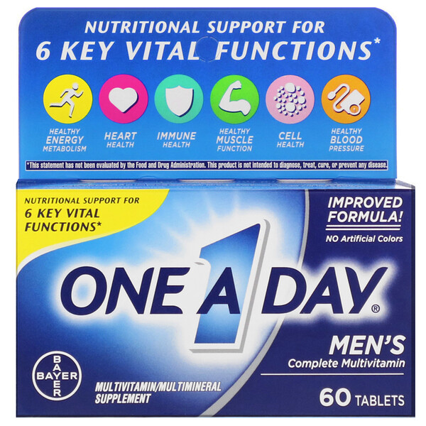 One-A-Day, Men's Formula, Complete Multivitamin, 60 Tablets