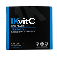 Vitamin C, Hydration, Effervescent Drink Mix, Natural Orange Flavor, 1,000 mg, 30 Packets, 0.22 oz (6.20 g) Each - фото