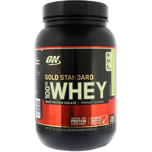 Optimum Nutrition, Gold Standard 100% Whey, Key Lime Pie, 1.81 lb (819 g) (Discontinued Item)