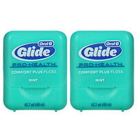 Glide, Pro-Health, Comfort Plus Floss, Mint, 2 Pack, 43.7 yd (40 m) Each - фото