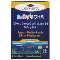 Norwegian Baby's DHA with Vitamin D3, 800 mg, 2 fl oz (60 ml) - фото