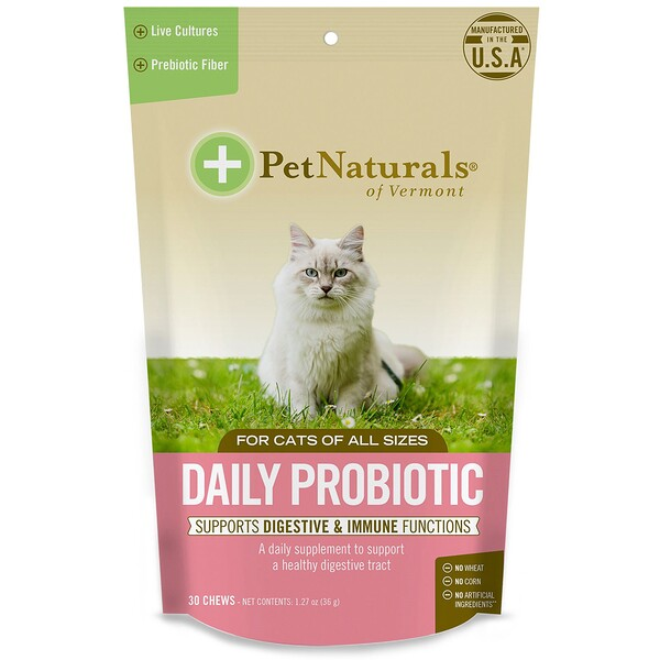 Daily Probiotics, For Cats, 30 Chews, 1.27 oz (36 g)