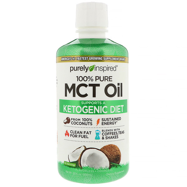 Purely Inspired, 100% Pure MCT Oil, масло MCT, 950мл (32жидк.унции) (Discontinued Item)