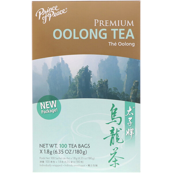 Premium Oolong Tea, 100 Tea Bags, (1.8 g) Each