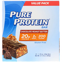Pure Protein Bar, Chocolate Peanut Butter, 12 bars, 1.76 oz (50 g) Each - фото