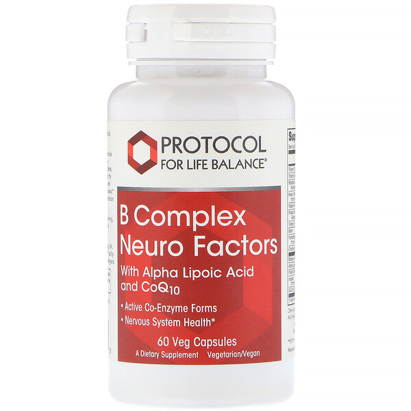 Protocol for Life Balance, B Complex Neuro Factors, 60 Veg Capsules