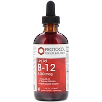 Liquid B-12, 5,000 mcg, 4 fl oz (118 ml) - фото