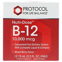 Nutri-Dose B-12, Mixed Berry Flavor, 10,000 mcg, 12 Vials, 0.5 fl oz (15 ml) Each - фото