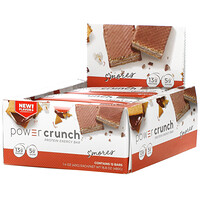 Power Crunch Protein Energy Bar, S'mores, 12 Bars, 1.4 oz (40 g) Each - фото