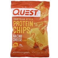Tortilla Style Protein Chips, Nacho Cheese, 12 Bags, 1.1 oz (32 g ) Each - фото