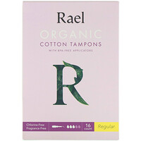 Organic Cotton Tampons With BPA-Free Applicators, Regular, 16 Count - фото
