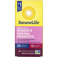 Ultimate Flora, Women's Vaginal Probiotic, 50 Billion, 30 Vegetarian Capsules - фото
