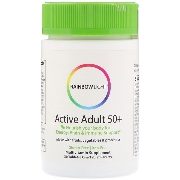 Rainbow Light, Active Adult 50+, 30 таблеток (Discontinued Item)