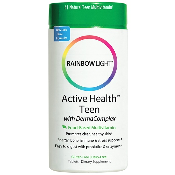 Rainbow Light, Active Health Teen, Food-Based Multivitamin, 30 Tablets (Discontinued Item)