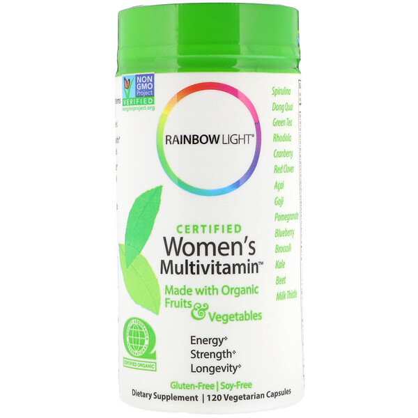 Rainbow Light, Сертифицированный Women's Multivitamin, 120 вегетарианских капсул