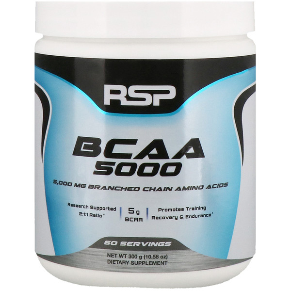 RSP Nutrition, BCAA 5000, Unflavored, 5,000 mg, 10.58 oz (300 g) (Discontinued Item)