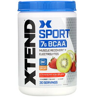 Xtend, Sport 7g BCAA, Strawberry Kiwi Splash, 12.2 oz (345 g) - фото