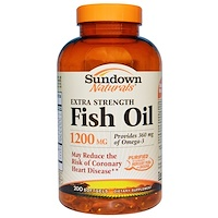 Extra Strength Fish Oil, 1200 mg, 200 Softgels - фото