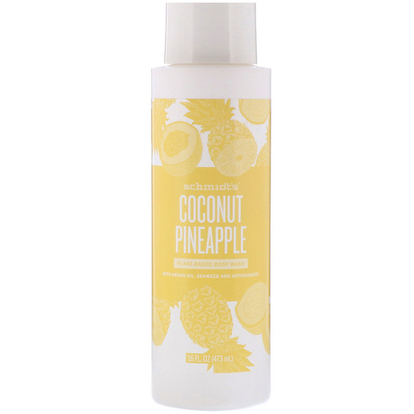 Schmidt's Naturals, Plant-Based Body Wash, Coconut Pineapple, 16 fl oz (473 ml)