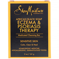 African Black Soap, Eczema & Psoriasis Therapy, Medicated Cleansing Bar, 5 oz (141 g) - фото