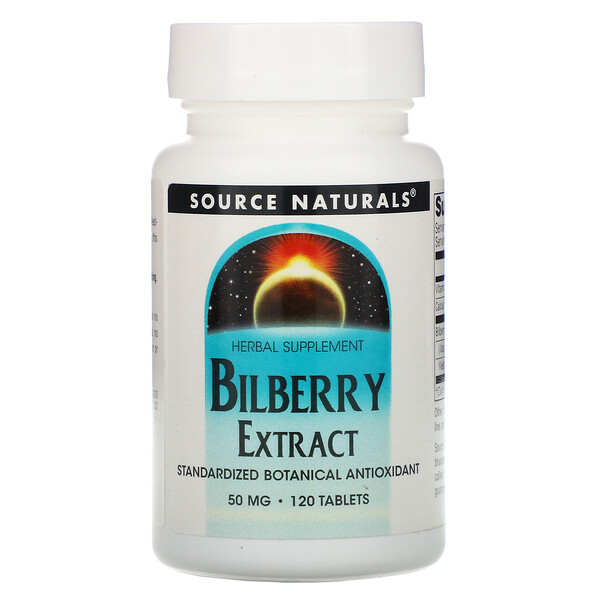 Bilberry Extract, 120 Tablets