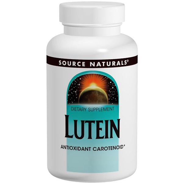 Source Naturals, Лютеин, 20 мг, 60 капсул (Discontinued Item)