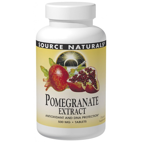 Pomegranate Extract, 500 mg, 240 Tablets