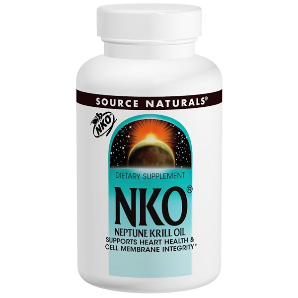 Source Naturals, NKO, Neptune Krill Oil, 500 мг, 120 капсул