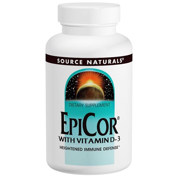 Source Naturals, EpiCor с Витамином D3 30 капсул