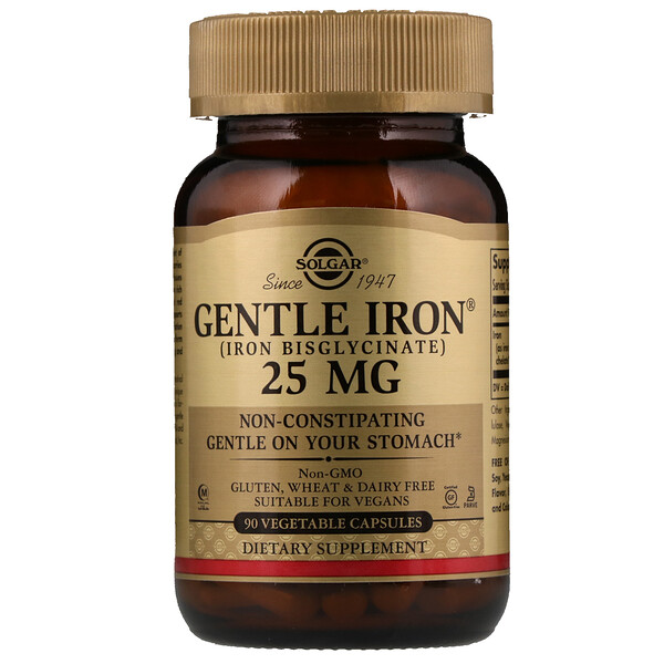 Gentle Iron, 25 mg, 90 Vegetable Capsules