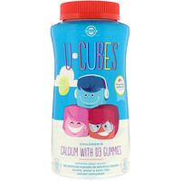 U-Cubes, Children's Calcium With D3, Pink Lemonade, Blueberry, Strawberry Flavors, 120 Gummies - фото