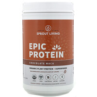 Epic Protein, Organic Plant Protein + Superfoods, Chocolate Maca, 2 lb (910 g) - фото