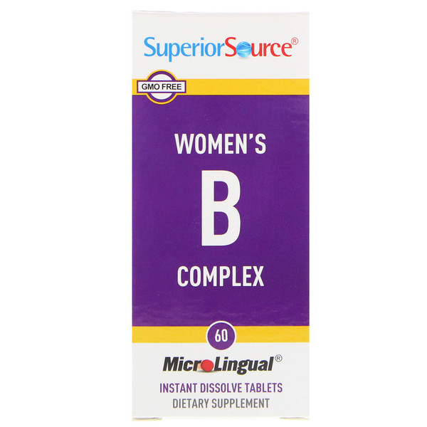 Superior Source, Women's B Complex, 60 MicroLingual Instant Dissolve Tablets (Discontinued Item)