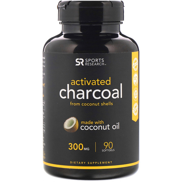 Activated Charcoal from Coconut Shells, 300 mg, 90 Softgels