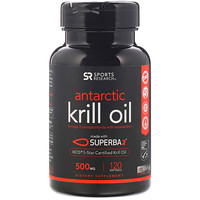 Antarctic Krill Oil with Astaxanthin, 500 mg, 120 Softgels - фото