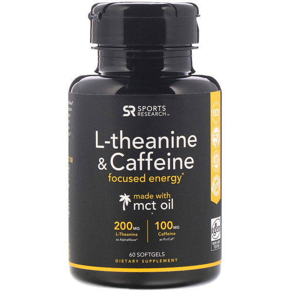 L-Theanine & Caffeine with MCT Oil, 60 Softgels