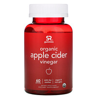 Organic Apple Cider Vinegar with the Mother, Natural Apple , 60 Gummies - фото