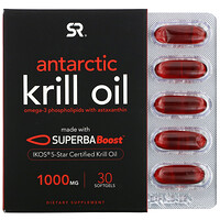 SUPERBA Boost Antarctic Krill Oil with Astaxanthin, 1,000 mg, 30 Softgels - фото