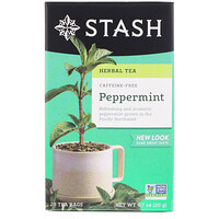Herbal Tea, Peppermint, Caffeine Free, 20 Tea Bags, 0.7 oz (20 g) - фото