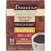 Teeccino, Roasted Herbal Tea Sampler, 4 Herbal Flavors, Caffeine Free, 12 Tea Bags, 2.54 oz (72 g)