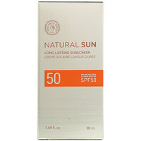 Natural Sun, Long Lasting Sunscreen, SPF 50, 1.69 fl oz (50 ml) - фото