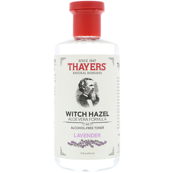 Thayers, Гамамелис, формула с алоэ вера, бесспиртовой тоник, лаванда, 355 мл (Discontinued Item)