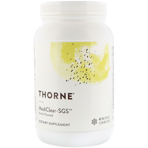 Thorne Research, MediClear-SGS, Vanilla Flavored, 37.8 oz (1071 g)